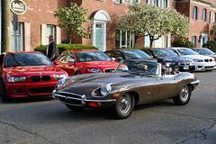 1970 Jaguar E-Type Series 2 (Alex Nunez) Tags: auto brown classic sports car vintage fun automobile connecticut culture ct british jaguar 1970 caffeine carshow roadster etype newcanaan informal series2 carburetors browncar caffeineandcarburetors