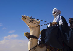 Tuareg Man Riding His Camel, Ghadames, Libya (Eric Lafforgue) Tags: africa music man color male sahara animal festival horizontal outdoors desert guitar northafrica unescoworldheritagesite camel berber transportation nomad turban libya oneperson touareg bedouin onepeople traditionalculture ghadames libia libye traditionalclothing colorimage libyen colorpicture onemanonly lbia lowangleview italiancolony artscultureandentertainment indigenousculture libi libiya tripolitania  ribia twareg liviya imuhagh ghadamis gadhames libija nomadicpeople colourpicture  tagelmust      lbija  lby  libja lbya liiba livi  a0013822 fezzanprovince nomadicpastoralist