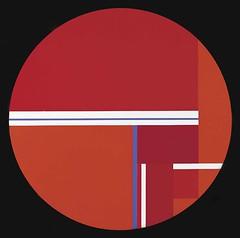 Bolotowsky, Ilya (1907-1981) - 1978 Tondo Variation in Red (Smithsonian American Art Museum, Washington DC) (RasMarley) Tags: abstract smithsonian contemporary american painter jewish 1978 1970s russian 20thcentury geometricabstraction ilyabolotowsky bolotowsky tondovariationinred