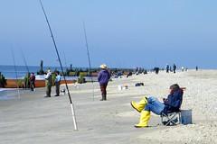 Beach fisherman (runneralan2004) Tags: beach newjersey capemay