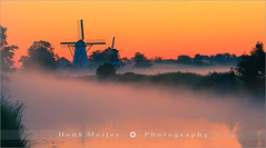 Morning Glory - Ten Boer - Netherlands (~ Floydian ~ ) Tags: mist holland mill nature netherlands windmill fog sunrise canon boer landscape dawn morninglight warm colours view postcard windmills 300mm postcards ten groningen mills viewpoint meijer sawmill henk damsterdiep tenboer floydian proframe proframephotography canonef300mmf28lusm canoneos1dsmarkiii henkmeijer widdemeuln bovenrijge