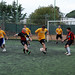 Study abroad program in Italy - Sorrento - ASC students playing soccer wearing Alfred State College t-shirts