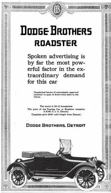 1915 Dodge Brothers  Roadster - Dodger Brothers  -  Detroit