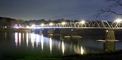 Washington Crossing ( estatik ) Tags: new bridge panorama night river washington long exposure crossing pennsylvania nj historic pa jersey delaware