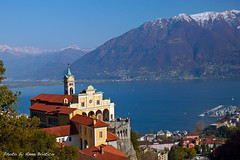 a view (anbri22) Tags: lake landscape lago switzerland see view suisse vista locarno maggiore svizzera paesaggio santuario lakemaggiore anbri madonnadelsasso