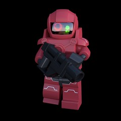 Rifleman (HJ Media Studios) Tags: brick digital toy soldier 3d fight cg model marine war lego space alien cartoon weapon scifi animation blender marines spacemarines block animated fi minifig stud sci cgi rigged minifigure cuusoo hjmediastudios