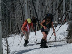 Barb and Steph heading up
