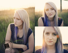 Heidi (Marie Sturges ) Tags: camera blue sunset sun girl grass set 35mm silver hair heidi golden nikon purple farm pastel hour blonde mm nikkor dye dslr 35 d7000