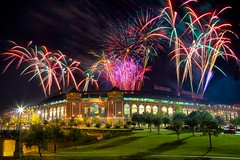 Fireworks over Rangers Ballpark in Arlington (Matt Pasant) Tags: cowboys arlington football baseball fireworks rangers canonef24105mmf4lis