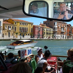 Arriving in Venice by Vaporetto (Bn) Tags: world life voyage street city trip travel venice houses windows light sea summer people italy music sun color heritage water beauty weather river myself geotagged boats island mirror islands site ancient topf50 colorful warm europe italia ride ben taxi shoreline pedestrian tourist taxis canals unesco explore gondola venezia palaces itali veneti vaporetti 50faves geo:lat=45429058 geo:lon=12325416