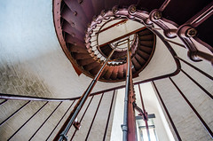 Cape Hatteras Light House (Nick Benson Photography) Tags: ocean trip travel light vacation lighthouse house tower water stairs spiral island photography golden photo nc iron stair waves waterfront north northcarolina rail case stairwell atlantic well hatteras staircase spinning carolina cape handrail winding outerbanks avon obx capehatteras theouterbanks ratio rodanthe tallest the cylindrical pamlicosound thegoldenratio chicamacomico nickbenson