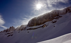 This beautiful Rock (Nataraj Metz) Tags: schnee winter sun mountain snow alps canon austria sterreich europa europe berge alpen sonne gebirge vorarlberg kleinwalsertal riezlern ifen hoherifen allgueralpen alpmountains eos550d eosrebelt2i tamron18270mmf3563diiivcpzd