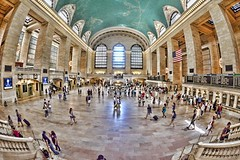Grand Central Station (mississaugapictures) Tags: newyorkcity newyork station manhattan central grand grandcentralstation grandcentral 10mm nikonfisheye