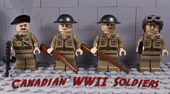 Canadian Assault Sqaud (Sir Glub) Tags: canada dark soldier cool gun lego awesome brodie wwii helmet tan canadian tommy soldiers guns had wish squad beret bren enfield inglis smle i