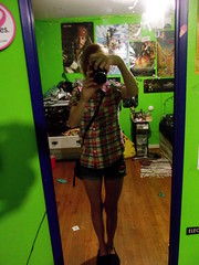 OOTD - 07/15/2012 (SkyeRieth) Tags: green shirt self myself outfit day plaid greenwalls outfitoftheday ootd pokewalker