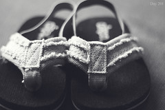 201 | 366 (EsotericMaiden) Tags: summer blackandwhite baby canon toddler conversion bokeh sandals july flipflops 365 distressed 201 day201 366 365project 366project 201366
