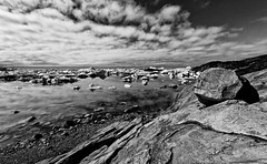 greenland's magic light (diamir8000) Tags: travel light bw clouds canon landscape geotagged rocks arctic greenland iceberg ilulissat icefjord westerngreenland