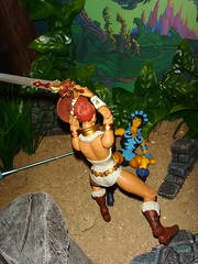 0.9 About to strike (custombase) Tags: classics figures mastersoftheuniverse teela evillyn