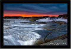 Swansea-Color (Kiall Frost) Tags: ocean blue red white water sunrise newcastle nikon rocks surf wave australia frosty nsw leefilters swanseaheads d7000 kiallfrost