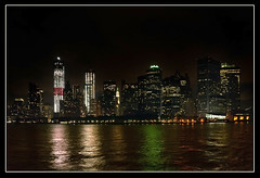 New Manhatten Skyline (pollylew) Tags: newyork water reflections nikon cityscape skyscrapers vista freedomtower 1worldtradecenter 1wtc july2012