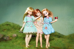 The Three Graces (Hurry Up Miss Jane) Tags: greek soleil doll cookie threegraces raphael mythology licca luceia