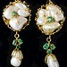 4041. Baroque Pearl Drop Pendant Earrings