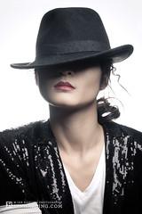 MJ Billie Jean Beauty (Ian Harding Photography) Tags: sexy beautiful beauty face hat sunglasses asian model jaw chinese makeup jacket michaeljackson aviators sequin asianbeauty