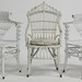 123. Three Antique Wicker Chairs