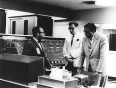 Edward Teller gets computer briefing (Lawrence Livermore National Laboratory (LLNL)) Tags: computer starwars supercomputer teller nuclearbomb manhattanproject llnl manhattenproject hydrogenbomb edwardteller fernbach lawrencelivermore haroldbrown sidfernbach