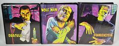 Monster Binders (toyranch) Tags: school man monster notebook kid wolf dracula frankenstein 1960s wolfman binder spp