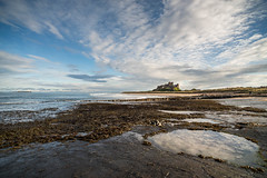 """Bamburgh Castle from Rock Pools • <a style=""""font-size:0.8em;"""" href=""""https://www.flickr.com/photos/21540187@N07/8154216624/"""" target=""""_blank"""">View on Flickr</a>"""