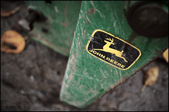 """""""Nothing runs like a Deere"""" (Eric Flexyourhead (YVR catch-up mode!)) Tags: tractor canada detail green yellow bc bokeh britishcolumbia winery langley johndeere fragment panasoniclumix20mmf17 olympusem5 domainedechabertonestatewinery"""