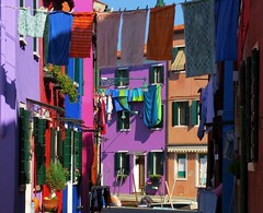 Burano colors, laundry (Marite2007) Tags: venice colors architecture reflections canal colorful colours vibrant vivid laundry hanging clothesline multicolored venise venezia venetia burano colorfullaward oltusfotos