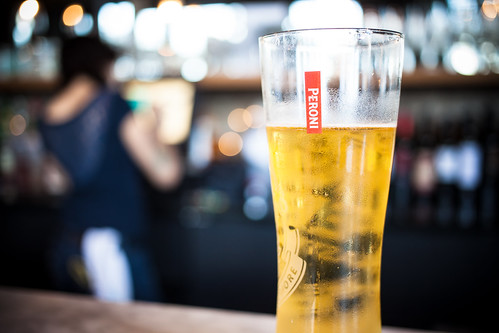 Peroni at Burger Up