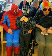 good and evil spiderman (Points West Living) Tags: halloween fun good evil enjoy lloydminster spidermen