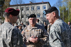 Latvia's Chief of Defense (U.S. Army Europe Images) Tags: poland baltic latvia riga nato usarmyeurope usareur 173rd 173rdinfantrybrigadecombatteam 173rdinfantrybrigade