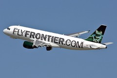 N221FR FRONTIER A320-214 leaving KCLE (GeorgeM757) Tags: airplane airport aircraft aviation flight airbus frontier clevelandhopkins kcle a320214 alltypesoftransport georgem757sphotostream n221fr