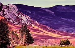 Geological contortions near Croachy. (Fr Paul Hackett) Tags: mountain tree sunshine landscape shade unusual