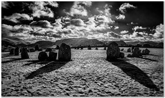 Stone circle shadows (Hugh Stanton) Tags: snow castle ice frost stones rigg