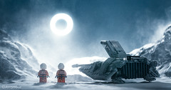 Transit of a Hoth Moon (Avanaut) Tags: winter sun moon snow cold toy starwars lego transit blizzard hoth originality minifigure moc theempirestrikesback snowspeeder toyphotography larrylars