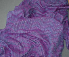 All silk hand dyed hand woven custom (La Maison des Fibres) Tags: silk warp variegated soie crackle handwoven handdyed teintlamain tissmain