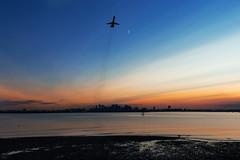 Blast Off (cvillandry (Instagram & Twitter @cvillandry)) Tags: city boston skyline buildings airline md88 deltaairlines