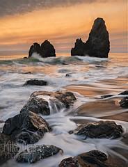 Rodeo Golden Glow (mikeSF_) Tags: sanfrancisco california seascape landscape pentax outdoor marin sausalito rodeobeach ggnra cronkite 645z
