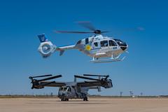 Old vs New (LoadedAaron) Tags: hospital children texas aviation helicopter ucla westtexas airforce turbine osprey midland eurocopter avgeek ec145 midlandinternationalairport midlandinternationalairportmaf midlandinternationalairspaceport