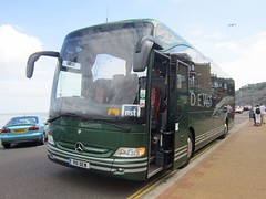 Dews Coaches of Somersham R111DEW (front) (harryjaipowell) Tags: bus coach mercedesbenz isleofwight esplanade cambridgeshire shanklin 2010 iow huntingdon tourismo dews somersham o350 c49ft dewscoaches r111dew