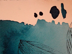 DSC09515 (scott_waterman) Tags: blue detail ink watercolor painting paper lotus gouache bluehue lotusflower scottwaterman