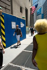 * (photoginthefog) Tags: yellow saturated manhattan wallstreet yellowhair nycdowntown upsp saturatedstreet