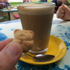 After-singing long macc at South Beach cafe (Figgles1) Tags: beach coffee cafe long day singing south australia biscuit sing fremantle southbeach macchiato iphone macc tinyteddy southfremantle singaustralia img1127 singaustraliaday