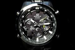 my new watch: Casio EDIFICE (jtabn99) Tags: solar watch casio radiocontrol stainless madeinjapan      20160511