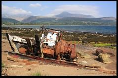 Rusting on the Shore (zweiblumen) Tags: uk scotland marine alba engine rusty motor brodick isleofarran polariser northayrshire eileanarainn canoneos50d zweiblumen breadhaig